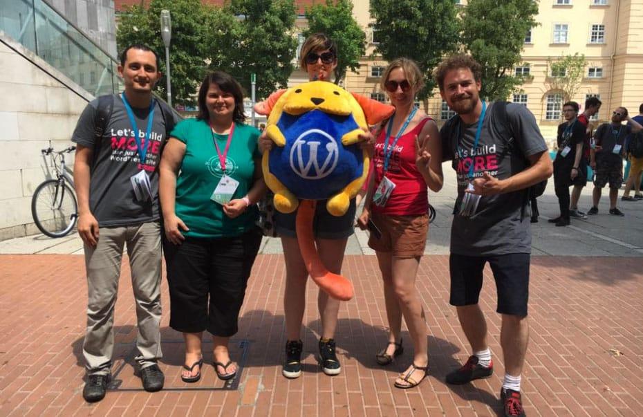 L'équipe Whodunit au WordCamp Europe à Vienne