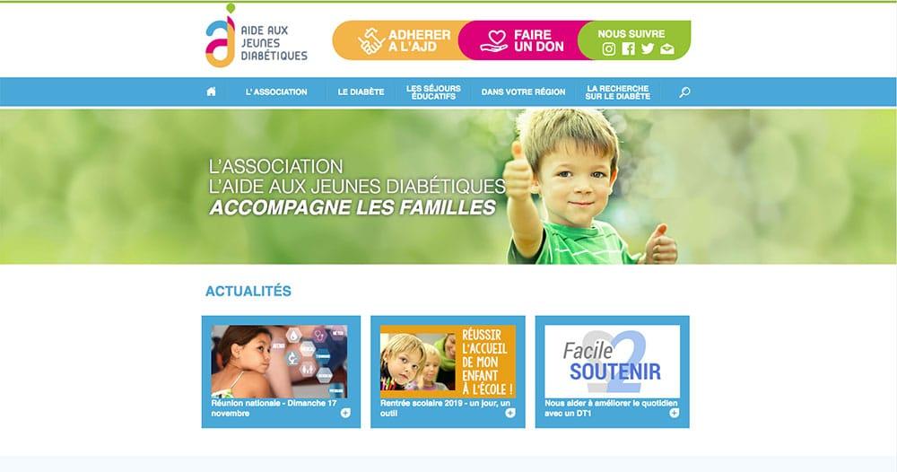 Site internet Aide aux Jeunes Diabétiques
