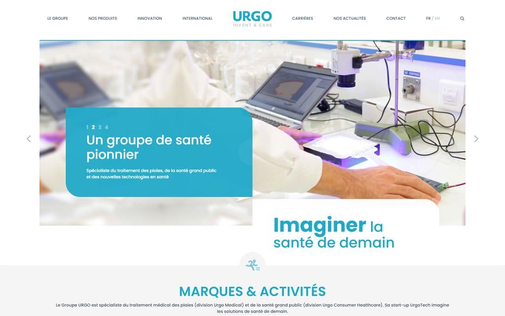 Site internet Groupe URGO