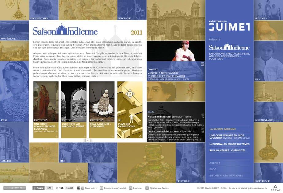 Site internet Musée Guimet Saison Indienne