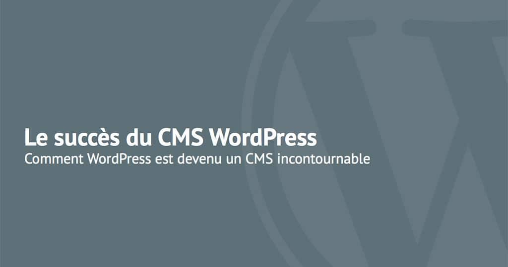 Livre blanc du CMS WordPress