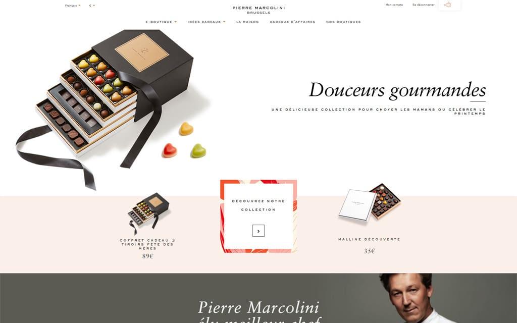 Site internet Pierre Marcolini